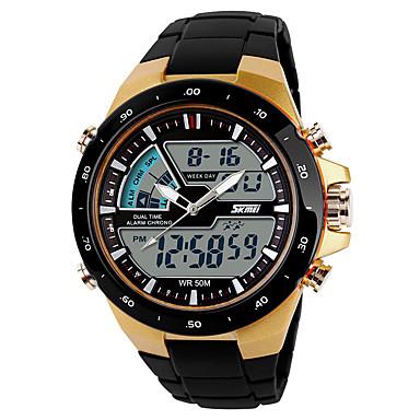 levne Pánské-SKMEI Pánské Sportovní hodinky Digitální hodinky Digitální Černá Hodinky na běžné nošení Cool Analog - Digitál Na běžné nošení - Zlatá Černá