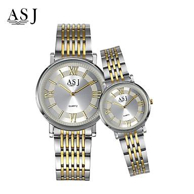 ASJ Couple's Dress Watch Fashion Watch Japanese Quartz Stainless Steel Band Elegant Silver