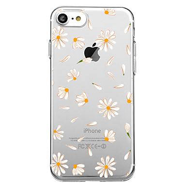 Case Kompatibilitás Apple iPhone X / iPhone 8 Minta Fekete tok Csempe / Virág Puha TPU mert iPhone X / iPhone 8 / iPhone 7 Plus