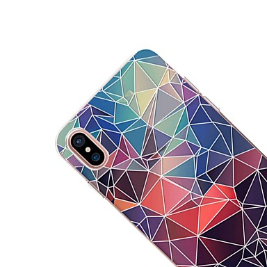 Per X iPhone 8 iPhone 8 Morbido 8 disegno Geometrica Fantasia Custodia 06283778 per iPhone iPhone iPhone TPU Transparente retro Apple Per X Plus HW4Y1nqdw
