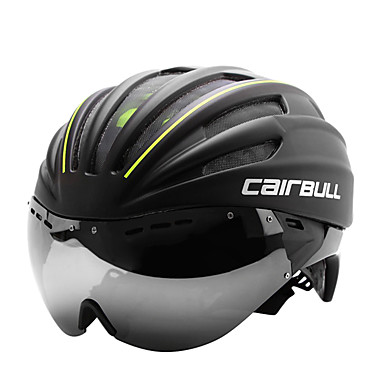 CAIRBULL Adults Bike Helmet with Goggle Aero Helmet 28 Vents CE EN 1077 Impact Resistant, Ventilation EPS, PC Sports Road Cycling - Red / Green / Blue