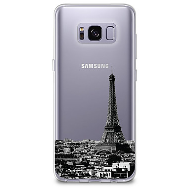 cheap Galaxy S3 Cases / Covers-Case For Samsung Galaxy S8 Plus / S8 / S7 edge Ultra-thin / Transparent / Pattern Back Cover City View Soft TPU