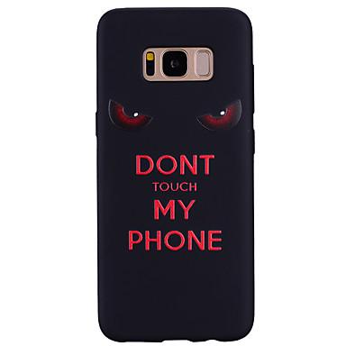 voordelige Galaxy S-serie hoesjes / covers-hoesje Voor Samsung Galaxy S8 Plus / S8 / S7 edge Patroon Achterkant Woord / tekst Zacht Siliconen