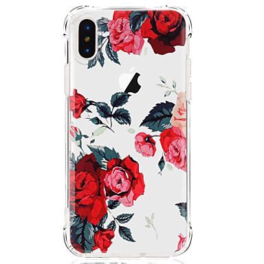 케이스 제품 Apple iPhone X iPhone 8 iPhone 8 Plus 울트라 씬 투명 패턴 뒷면 커버 꽃장식 소프트 TPU 용 iPhone X iPhone 8 Plus iPhone 8 iPhone 7 Plus iPhone 7