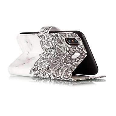 Porta Plus pelle carte X supporto Integrale iPhone Apple Per Custodia Con credito sintetica iPhone Mandala portafoglio 8 iPhone 8 iPhone iPhone Fiori 8 di iPhone Resistente A Plus per X 06287010 8 nPfnaqwx7