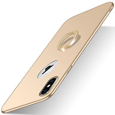 Case Kompatibilitás Apple iPhone X iPhone 8 iPhone 8 Plus iPhone 6 iPhone 7 Plus iPhone 7 Állvánnyal Tartó gyűrű Jeges Fekete tok Tömör