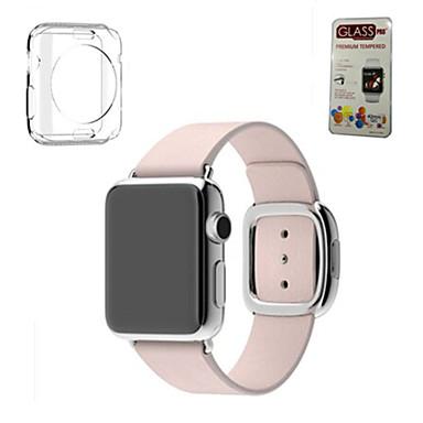 billige Apple Watch urremme-Urrem for Apple Watch Series 5/4/3/2/1 Apple Moderne spænde / DIY Værktøj Ægte læder Håndledsrem