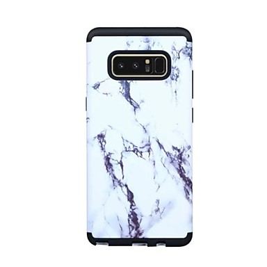 voordelige Galaxy Note-serie hoesjes / covers-hoesje Voor Samsung Galaxy Note 8 Schokbestendig Volledig hoesje Marmer Hard PC