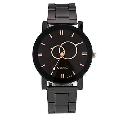 Недорогие Часы на металлическом ремешке-Муж. Жен. Спортивные часы Модные часы Уникальный творческий часы Кварцевый Нержавеющая сталь Черный Защита от влаги Секундомер Повседневные часы Аналоговый На каждый день минималист -  / Один год