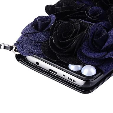Недорогие Чехлы и кейсы для Galaxy Note 4-Кейс для Назначение SSamsung Galaxy Note 8 / Note 5 / Note 4 Кошелек / Бумажник для карт / со стендом Чехол Цветы Твердый Кожа PU