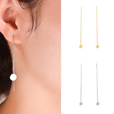 Γυναικεία θαυμαστής σκουλαρίκια Κοσμήματα Γεωμετρικό Μοντέρνα Εξατομικευόμενο Euramerican μινιμαλιστικό στυλ Ευρωπαϊκό ΧαλκόςΕνιαία Δέσμη