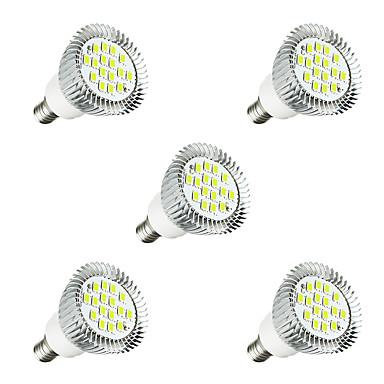 Недорогие Светодиоды и лампы-5 шт. 3 W Точечное LED освещение 260-300 lm E14 E14 / E12 16 Светодиодные бусины SMD 5630 Светодиодная лампа Тёплый белый Белый 220-240 V