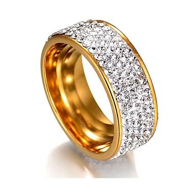 Pentru femei Band Ring / Eternity Ring Zirconiu Cubic / diamant mic 1 Argintiu / Auriu Teak Geometric Shape femei / Clasic / De Bază Nuntă / Absolvire Costum de bijuterii