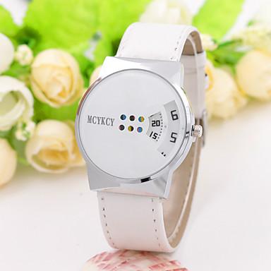 Муж. Жен. Уникальный творческий часы Наручные часы Нарядные часы Модные часы Китайский Кварцевый Повседневные часы PU Группа Кулоны На