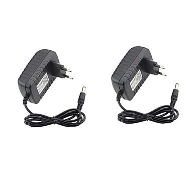 2pcs 12 V US / EU ABS + PC Адаптер питания для светодиодной полосы света