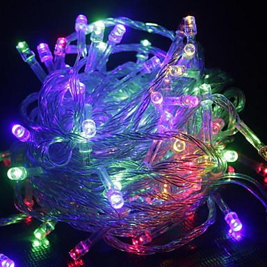 10m Dizili Işıklar 100 LED'ler Sıcak Beyaz RGB Beyaz Yeşil Mavi