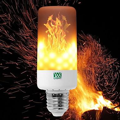 YWXLIGHT® 6W 550-600 lm E14 E27 E12 B22 Becuri LED Corn T 99 led-uri SMD 3528 Intensitate Luminoasă Reglabilă Flacăra pâlpâie Decorativ