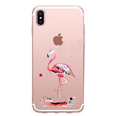 Uyumluluk iPhone X iPhone 8 iPhone 7 iPhone 7 Plus iPhone 6 Kılıflar Kapaklar Ultra İnce Temalı Arka Kılıf Pouzdro Flamingo Yumuşak TPU