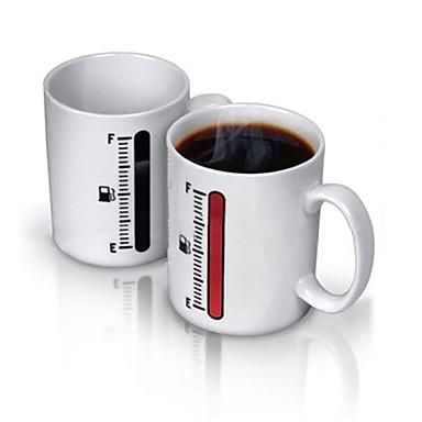 도자기 진공 컵 열 민감한 색상 변화 1 커피 차 음료 용기