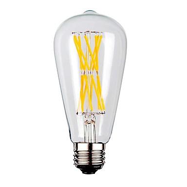 KWB 1kpl 9W 1100lm E26 / E27 LED-hehkulamput ST64 12 LED-helmet COB Lämmin valkoinen 220-240V