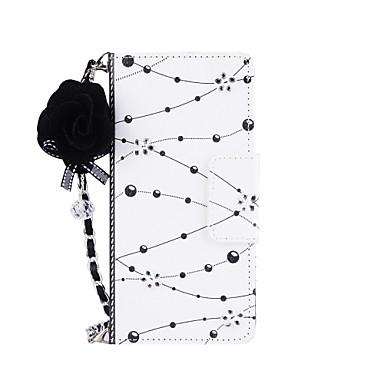 voordelige Galaxy Note 5 Hoesjes / covers-hoesje Voor Note 8 / Note 5 / Note 4 Portemonnee / Kaarthouder / met standaard Volledig hoesje Bloem Hard PU-nahka