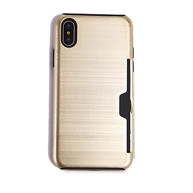 Apple di iPhone Porta iPhone Integrale TPU Custodia unita credito X Per 06409675 per 8 iPhone iPhone carte Plus X Resistente Tinta 8 qwIC5Yx