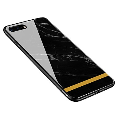 Per Plus per retro Plus Custodia iPhone temperato Fantasia 06392622 iPhone iPhone Per iPhone X disegno Morbido 8 Effetto Apple X Vetro 8 marmo gz1pzq