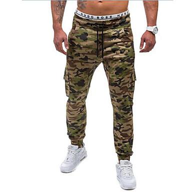 economico Abbigliamento uomo-Per uomo Attivo / Essenziale / Militare Sport Fine settimana Largo / Attivo / Pantaloni della tuta Pantaloni - Camouflage Cotone Verde Blu XL XXL XXXL