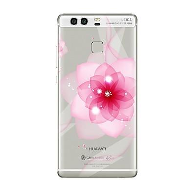 Coque Pour Huawei P9 / Huawei P9 Lite / Huawei P8 P10 / P9 Transparente / Motif Coque Fleur Flexible TPU pour P10 Plus / P10 Lite / P10 / Huawei P9 plus