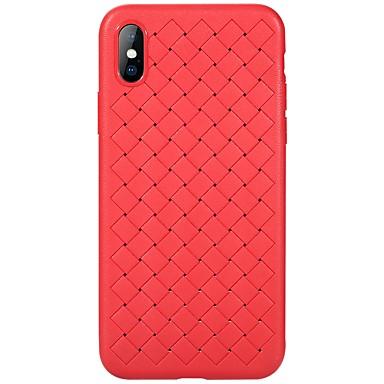 voordelige iPhone X hoesjes-hoesje Voor Apple / iPhone X iPhone X Ultradun Achterkant Effen Zacht TPU