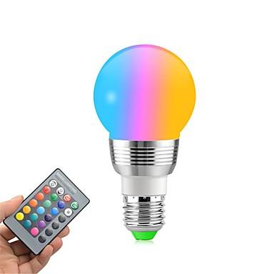 1 buc 5 W Bulb LED Glob 400 lm E14 E26 / E27 5 LED-uri de margele SMD Intensitate Luminoasă Reglabilă Telecomandă Decorativ RGBW 85-265 V / RoHs