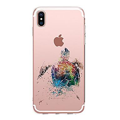 Кейс для Назначение Apple iPhone X iPhone 8 iPhone 8 Plus Ультратонкий Прозрачный С узором Кейс на заднюю панель Животное Мягкий ТПУ для