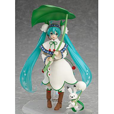 Figuras de Ação Anime Inspirado por Vocaloid Hatsune Miku PVC 13 CM modelo Brinquedos Boneca de Brinquedo
