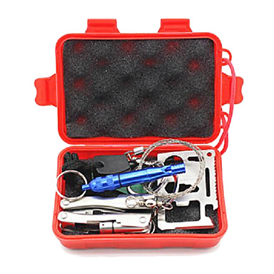 Πολυεργαλεία Πυξίδες Survival Kit Survival Whistle Fire Starter Πόρπη Μαχαίρια Πεζοπορία Κατασκήνωση Για Υπαίθρια Χρήση Σφυρίχτρα Βολικό