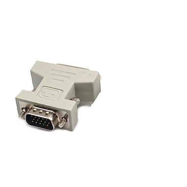 DVI شاحن, DVI to VGA شاحن ذكر - انثى 720p النيكل مطلي الصلب 800 Mbps