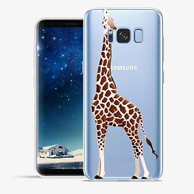 Недорогие Чехлы и кейсы для Galaxy S6 Edge-Кейс для Назначение SSamsung Galaxy S8 Plus / S8 / S7 edge С узором Кейс на заднюю панель Животное / Мультипликация Мягкий ТПУ
