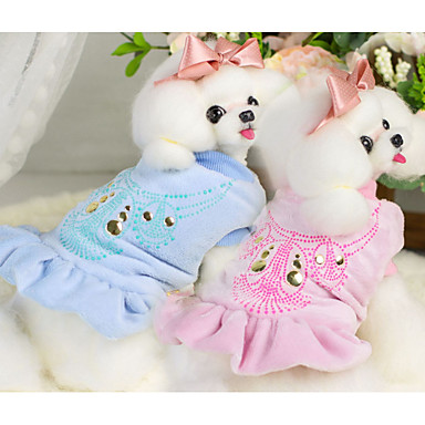 Dog Vest Dog Clothes Print Blue Pink Other Material Costume For Pets Men's Women's Casual / Daily