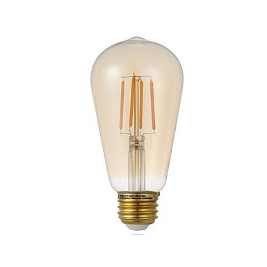GMY® 3.5 W LED Λάμπες Πυράκτωσης 300 lm E26 ST19 4 LED χάντρες COB Με ροοστάτη Φωτιστικό LED Διακοσμητικό Θερμό Λευκό 110-130 V, 1pc