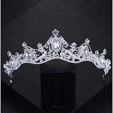 billige Damesmykker-Dame Grunnleggende Krystall Pannen Krone-Klassisk Brud & Brudgom Stil