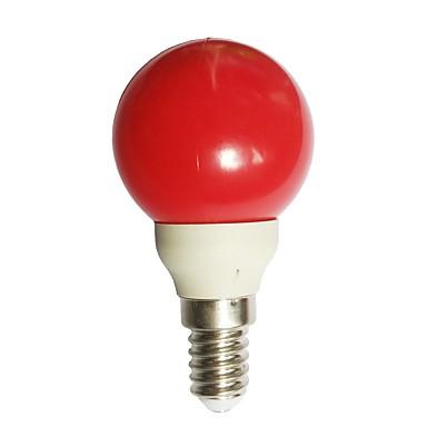1 buc 0.5 W Bulb LED Glob 15-25 lm E14 G45 7 LED-uri de margele Dip LED Decorativ Roșu 100-240 V / RoHs