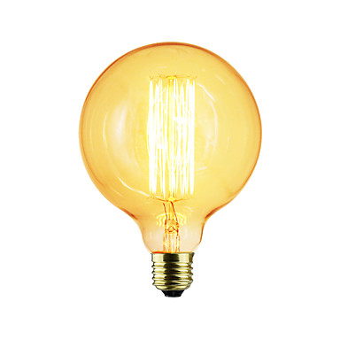 1db 40 W E26/E27 G125 K Izzólámpa Vintage Edison izzó AC 220-240V V