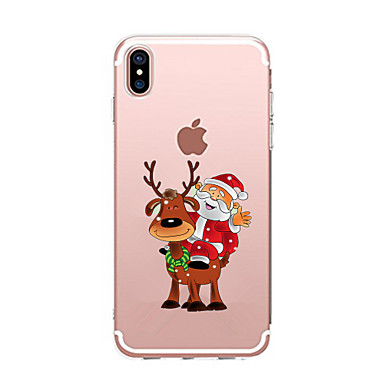 غطاء من أجل Apple iPhone X إفون 8 قضية فون 5 iPhone 6 iPhone 7 شفاف نموذج غطاء خلفي عيد الميلاد ناعم TPU إلى iPhone X iPhone 8 Plus