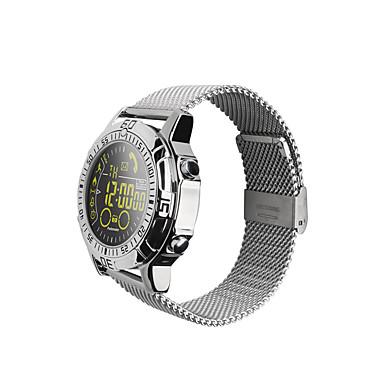זול שעונים חכמים-EX28 גברים חכמים שעונים Android iOS Blootooth עמיד במים כלוריות שנשרפו תצוגת זמן מרחק מעקב מד צעדים שעון עצר מד צעדים מזכיר שיחות מד פעילות מעקב שינה / תזכורת בישיבה / מצאו את המכשירשלי / Alarm Clock