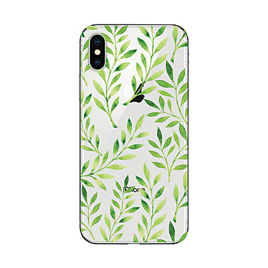 voordelige iPhone 5c hoesjes-hoesje Voor Apple iPhone X / iPhone 8 Plus / iPhone 8 Transparant / Patroon Achterkant Boom Zacht TPU