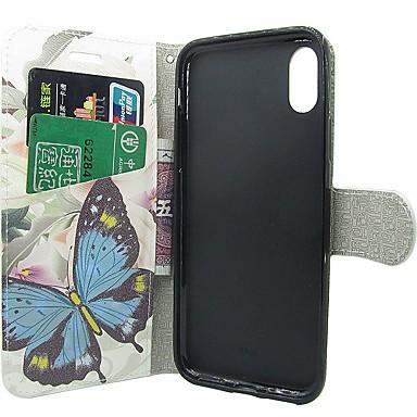 8 Apple portafoglio chiusura Per Porta Con credito Farfalla carte X Custodia Integrale di 06539324 iPhone supporto Con Fiore iPhone A magnetica XwnqFp