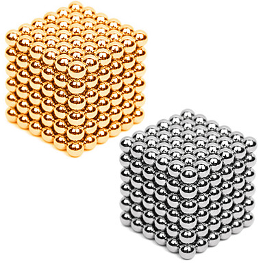 Magnet Toy Neodymium Magnet Magnetic Balls 216*2pcs 3mm Magnet Metal Sphere Cylindrical Unisex Toy Adults' Gift