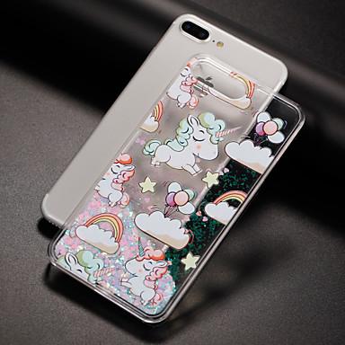 Case Kompatibilitás Apple iPhone 7 iPhone 7 Plus iPhone 6 Folyékony Minta Hátlap Egyszarvú Kemény PC mert iPhone 7 Plus iPhone 7 iPhone