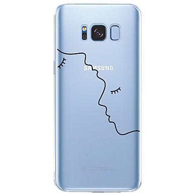 Недорогие Чехлы и кейсы для Galaxy S6-Кейс для Назначение SSamsung Galaxy S8 Plus / S8 / S7 edge С узором Кейс на заднюю панель Полосы / волосы / С сердцем / Соблазнительная девушка Мягкий ТПУ