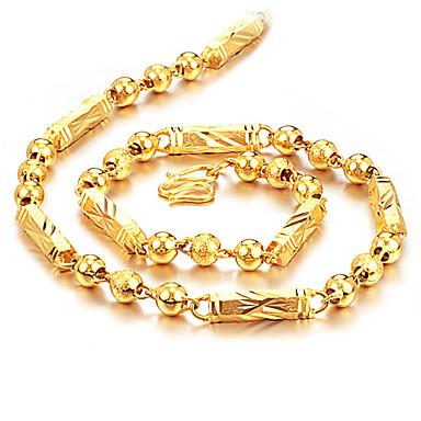voordelige Heren Ketting-Heren Kettingen Bal Baht Chain Rock Modieus Hip-hop Titanium Staal Verguld Titanium Goud Kettingen Sieraden Voor Dagelijks Straat