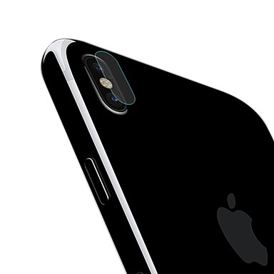 voordelige iPhone X screenprotectors-AppleScreen ProtectoriPhone X High-Definition (HD) Achterkantbescherming 1 stuks Gehard Glas